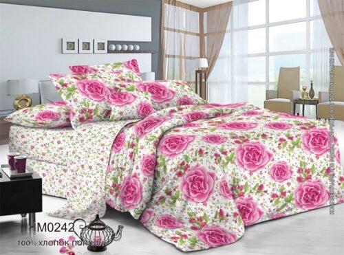 Поплин Розовые розы IM0242