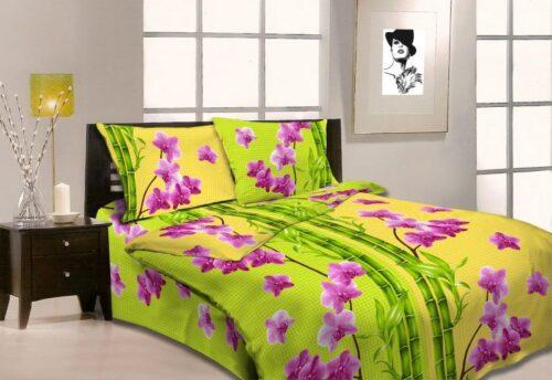 Бязь Миледи Орхидеи и бамбук 3608-1