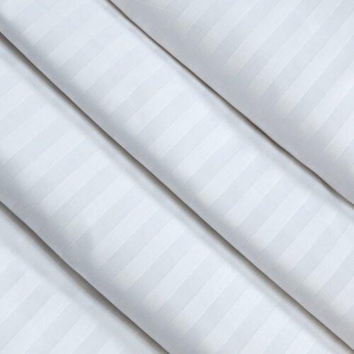 Страйп-сатин белый 280 см 140 грамм 1*1