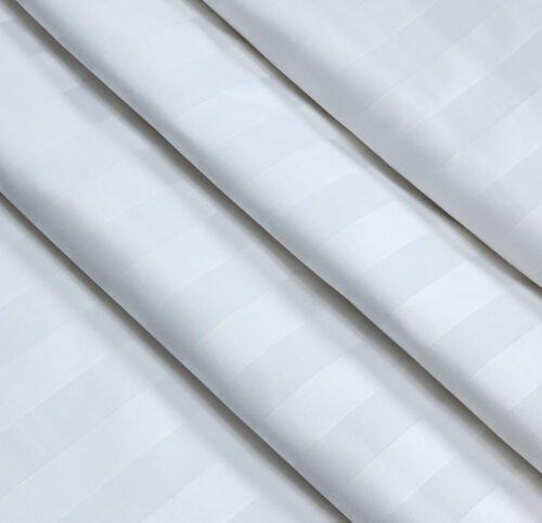 Страйп-сатин белый 240 см 140 грамм 3*3
