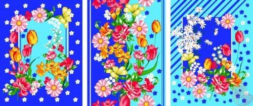 Вафельное полотно ТРИ БУКЕТА 7440-1