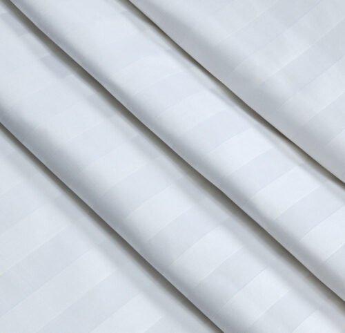 Страйп-сатин белый 240 см 140 грамм 1*1