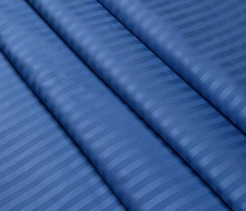 Страйп-сатин синий 240 см 125 грамм