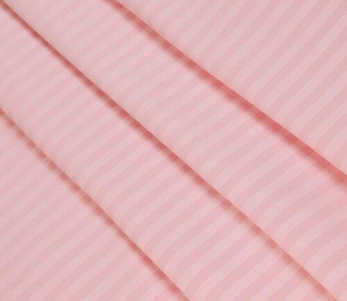Страйп-сатин розовый 240 см 125 грамм