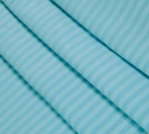 Страйп-сатин голубой 240 см 125 грамм