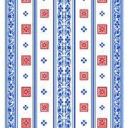 Вафельное полотно Красный квадрат 6440